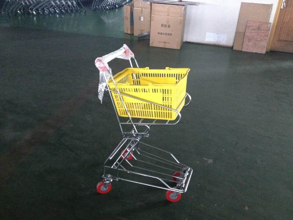 Chrome plated Shopping Basket Trolley , personal shopping cart